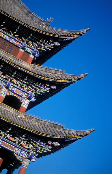 Chinese Temple Roof, Dali, Yunnan