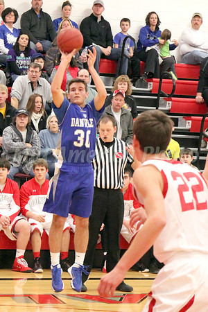 Boys Basketball, Danville vs Cardinal 1/10/2014