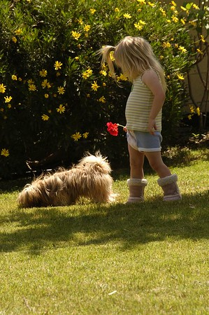 Garden Romp with Claire and Chakka