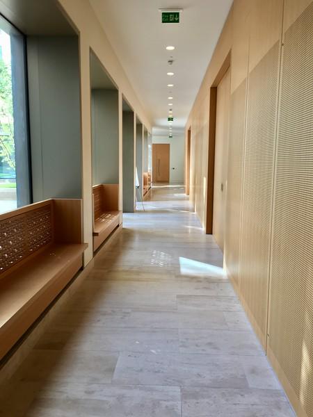 Interior Details, Victoria Hall (IIS & AKU Student Residence).  Kings Cross, London, UK