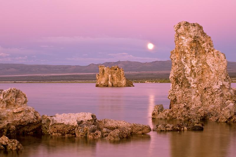 Moon over Mono  Moonrise over Mono Lake