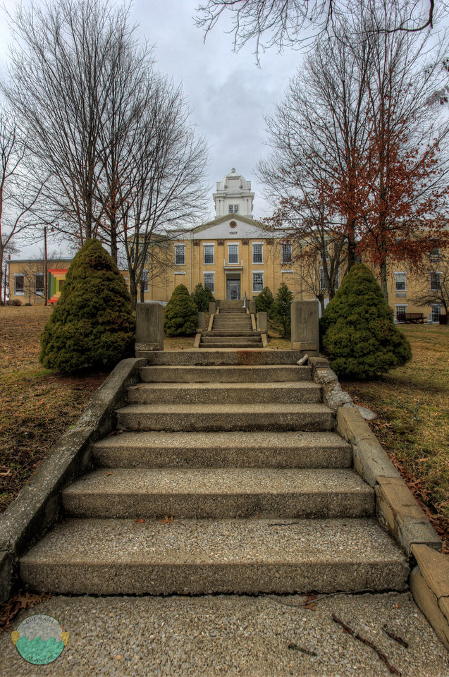 Carter County<br /> A gloomy day looking up the stairs to the Carter County Courthouse in Grayson, Kentucky.