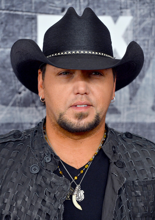 . LAS VEGAS, NV - DECEMBER 10: Singer Jason Aldean arrives at the 2012 American Country Awards at the Mandalay Bay Events Center on December 10, 2012 in Las Vegas, Nevada.  (Photo by Frazer Harrison/Getty Images)
