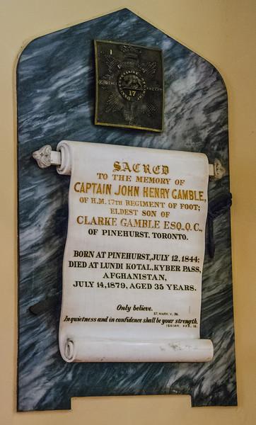 West proch memorial tablet