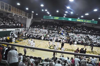 USF Dons Mens Basketball vs Santa Clara University Broncos 2.9.12