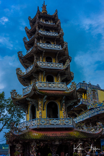 The Linh Phuoc Pagoda is a Buddhist temple in Thap Cham outside of Dalat.