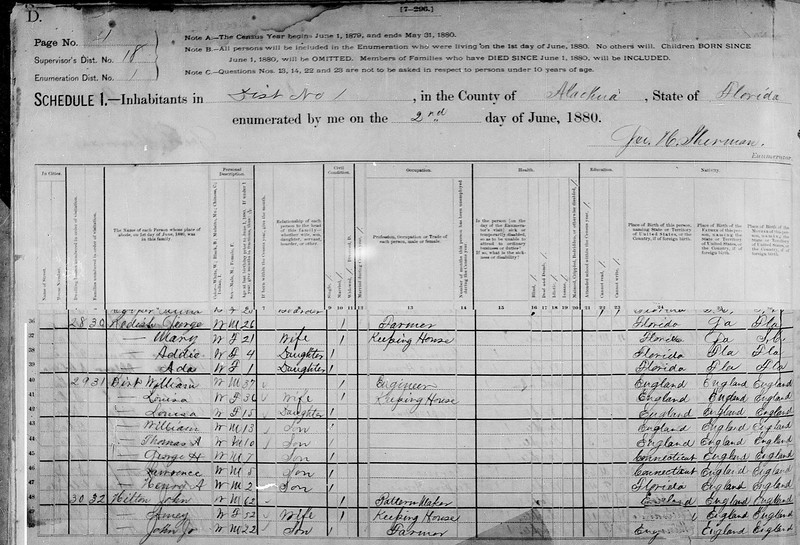 1880 census Birt family in Alachua co Fl crop.jpg