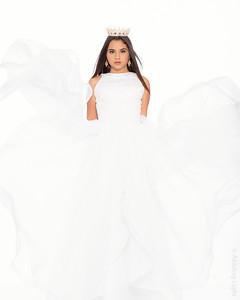 White Gown w/Crown