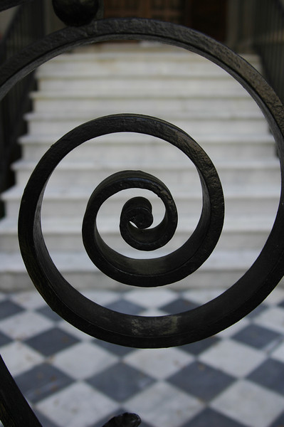 Wrought Iron Gate and Staircase, Charleston