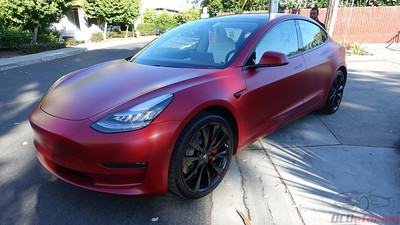 Tesla Model 3 - Multi-Coat Red - XPEL Stealth 2
