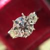 Old European Cut Diamond 3-Stone Trellis Setting, by Steven Kirsch 9