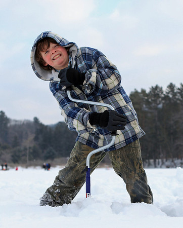 Youth On Ice, Ice Fishing at Dewey's Pond