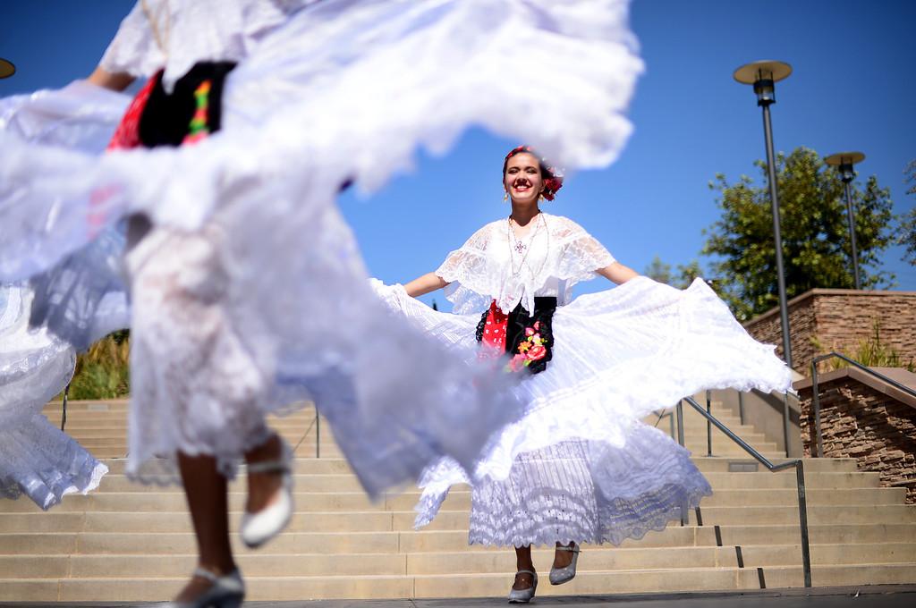 . Plaza de la Raza\'s Youth Mariachi and Ballet Folklorico perform at Rio Hondo College\'s Latino Heritage Month\'s kickoff celebration Saturday, September 14, 2013 at the Whittier college\'s quad. (Photo by Sarah Reingewirtz/Pasadena Star-News)