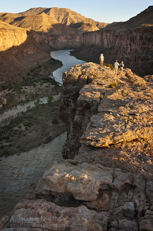Enjoying the evening light over the Green River, Gray Canyon, Utah, June 2010.