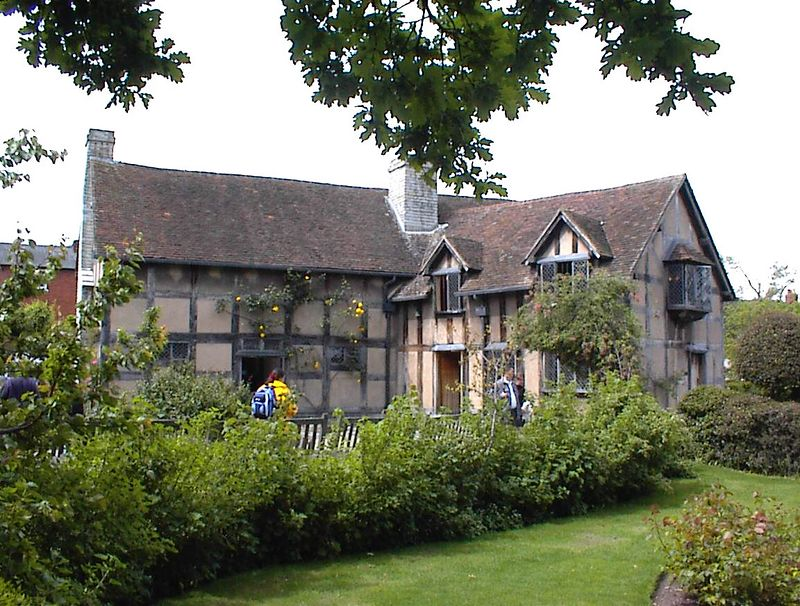 Shakespeare's Birthplace, Stratford-seen from the garden