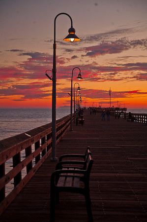 Ventura Pier Sunsets Jan 2012
