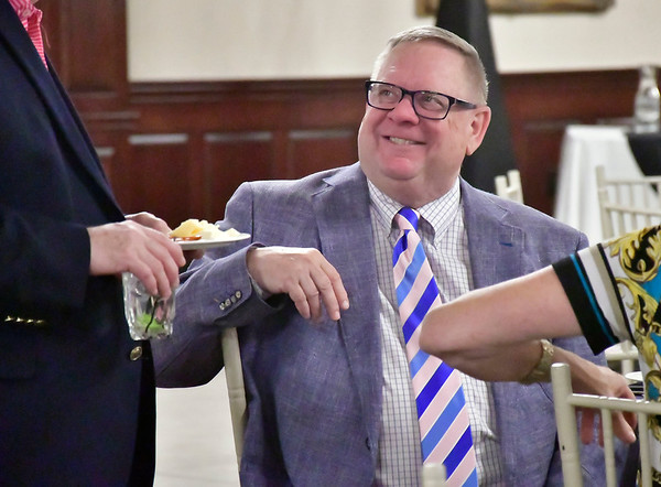 4/25/2019 Mike Orazzi | Staff Riccio Brothers Business person of the year James Garstang during the Southington Chamber of Commerce's 81st Annual Dinner held at the Aqua Turf Club in Southington Thursday evening.