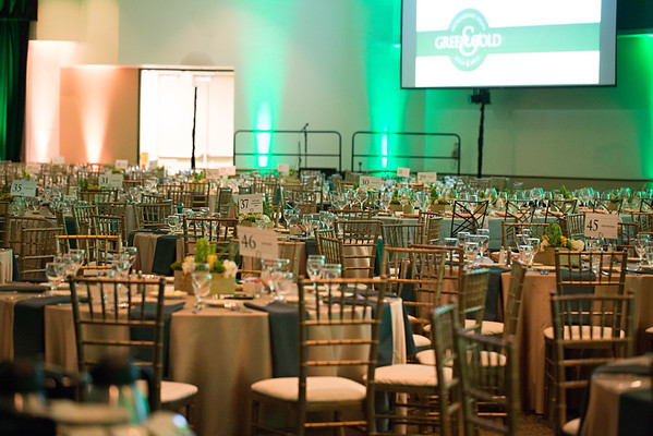 Green & Gold Gala decor