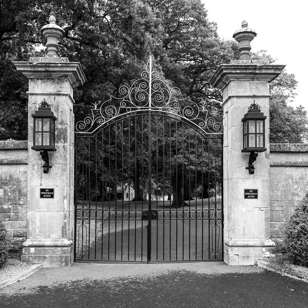 Closed gate, Adare, County Limerick, Republic of Ireland