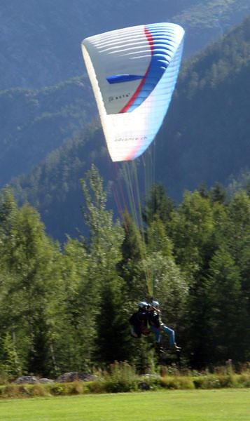 Landing field in Chamonix, close to my hostel.