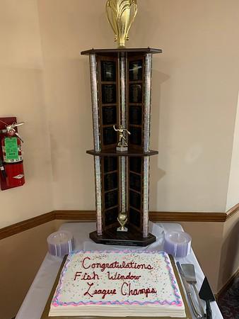 Softball Party - Fish Window champs!
