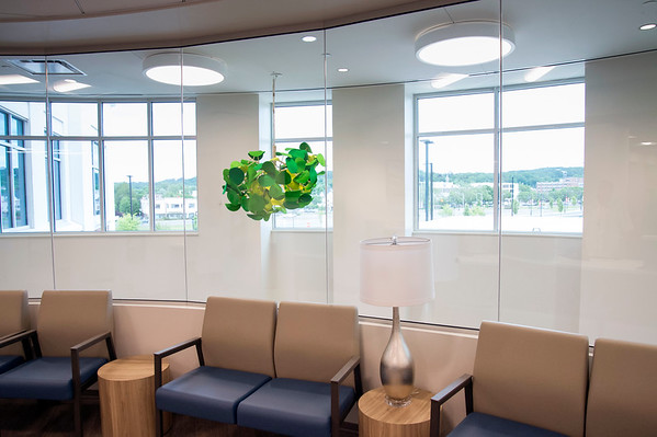 06/10/19 Wesley Bunnell | Staff The second floor looking out over downtown Bristol at the Bristol Health Medical Care Center which opened for patients on Monday.