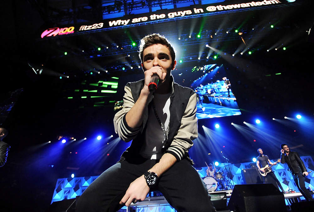 . Singer Nathan Sykes and the rest of the group The Wanted perform at Z100\'s Jingle Ball 2012 presented by Aeropostale at Madison Square Garden on Friday Dec. 7, 2012 in New York. (Photo by Evan Agostini/Invision/AP)