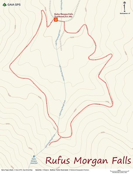 Rufus Morgan Falls Hike Route Map