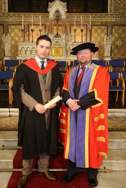 Pictured is Eoin O'Niell, Waterford who graduated Higher Cert Business Hospitality. Also pictured is Dr. Derek O'Byrne, Registrar of Waterford Institute of Technology (WIT). Picture: Patrick Browne.