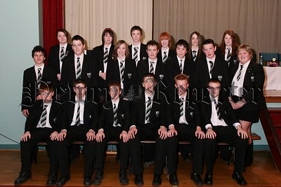 Ther Key Stage 3 ICT Award winners at Rathfriland High School prize night.  48-14-06.