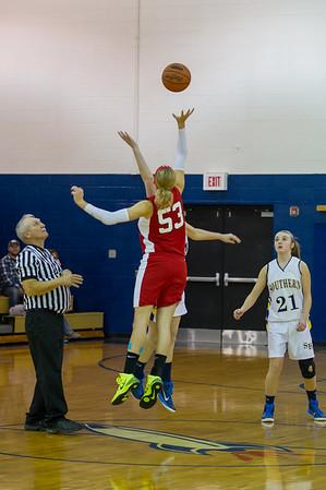 12-11-2014 Southern Girls vs Fannett Metal basketball