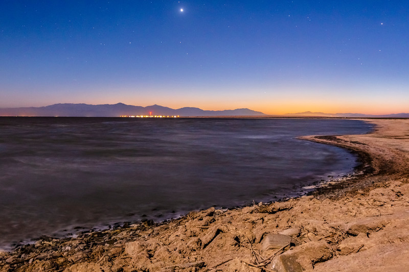 Transition From Day To Night At the Salton Sea