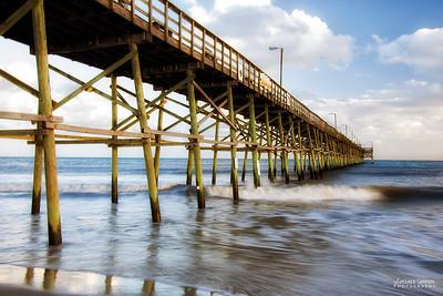 Yaupon Beach Fishing Pier at Sunset; Yaupon Beach, Oak Island, NC - Catalog #2033