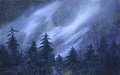 """""""Night Sky"""" (acrylic) by Christine O'Dell-Ferguson"""
