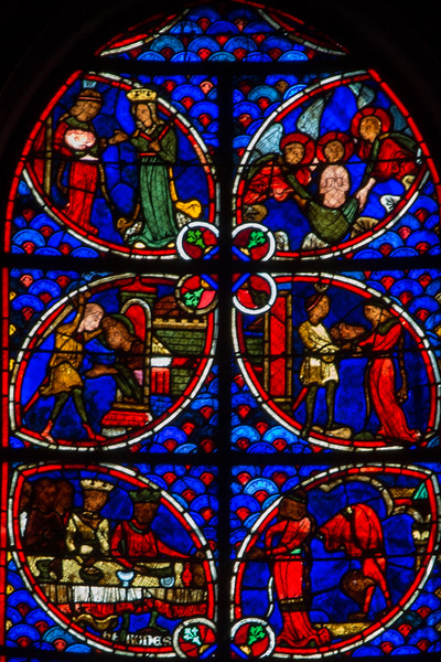 Bourges Cathedral  John The Baptist Window, Salome