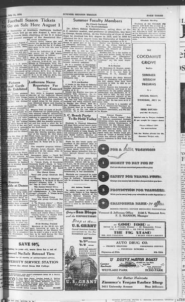 Summer Session Trojan, Vol. 15, No. 9, July 21, 1936
