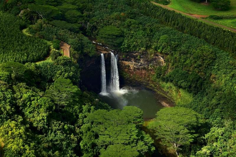Wailua Waterfalls, Kauai, Hawaii