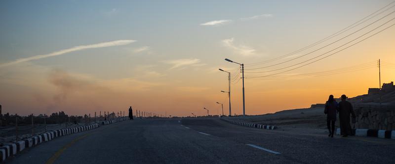 Carretera a Lúxor desde el Valle de los Reyes