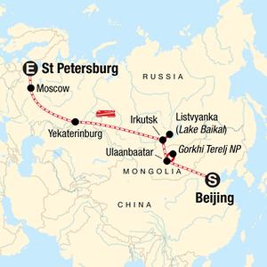Russia Adventure Tour Map