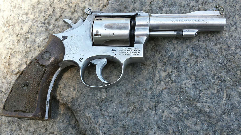 . One of two guns found in the lake at Red Hill Park in Rancho Cucamonga. (Photo Courtesy to the Inland Valley Daily Bulletin)