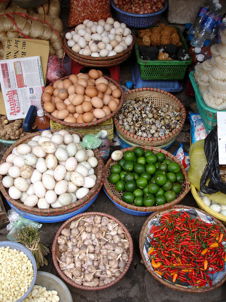 in a street market, Hanoi