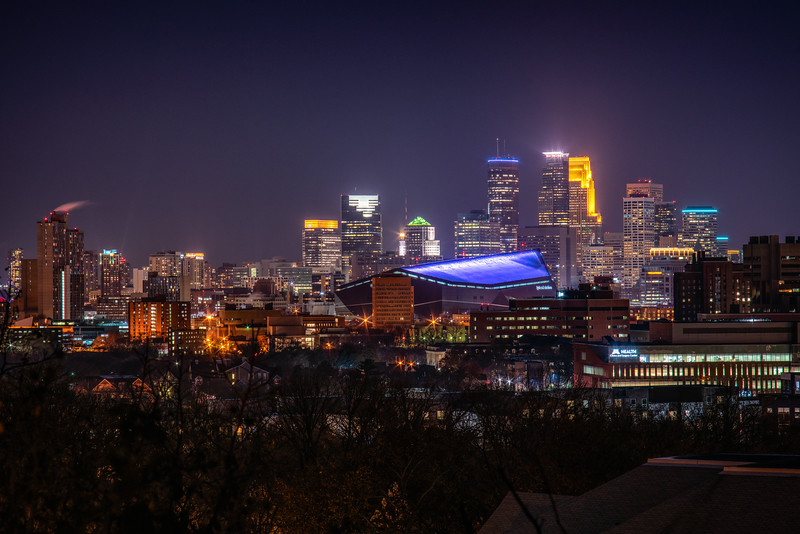 Minneapolis from Propsect Park