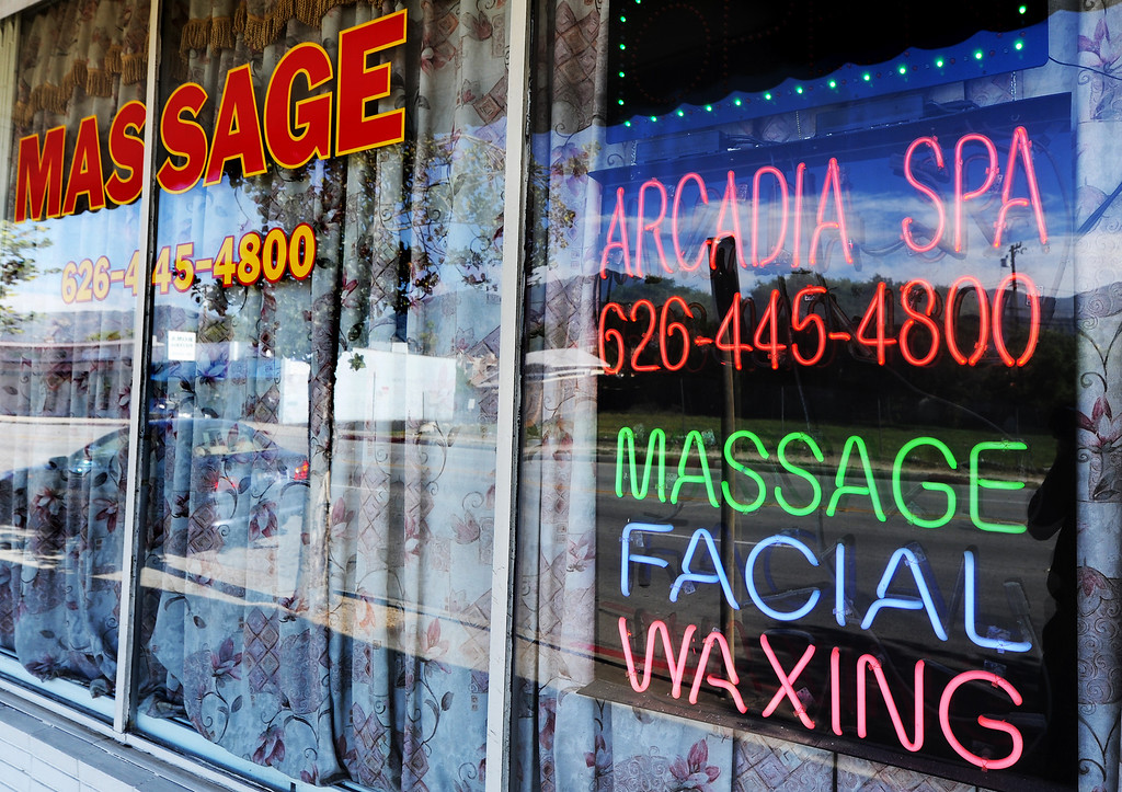 . Arcadia Spa located on Duarte Road in Arcadia. (Photo by Walt Mancini/Pasadena Star-News)