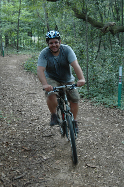 Nice shot of Danny heading into Loblolly Trail.
