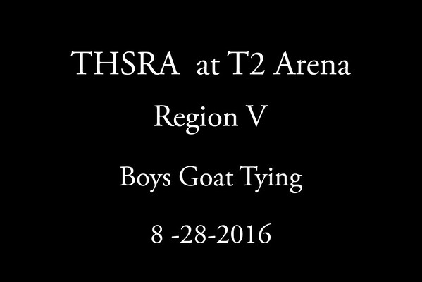 Sunday 'Boys Goat Tying'