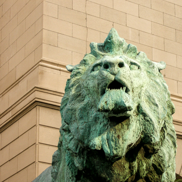 Lion outside the Art Institute