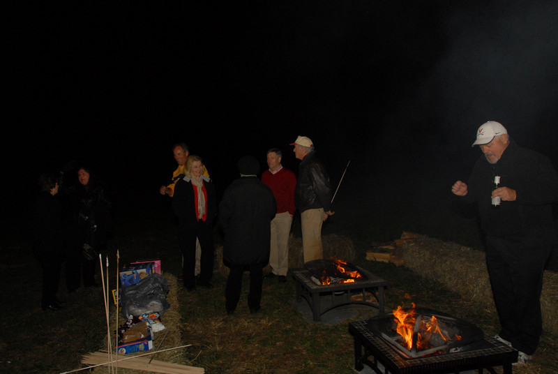 Fire pits were enjoyed by many....