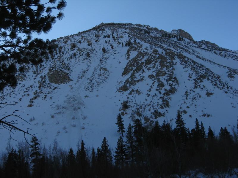 looking towards Mt. Kidd