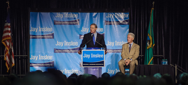 President Bill Clinton with WA State Governor candidate Jay Inslee