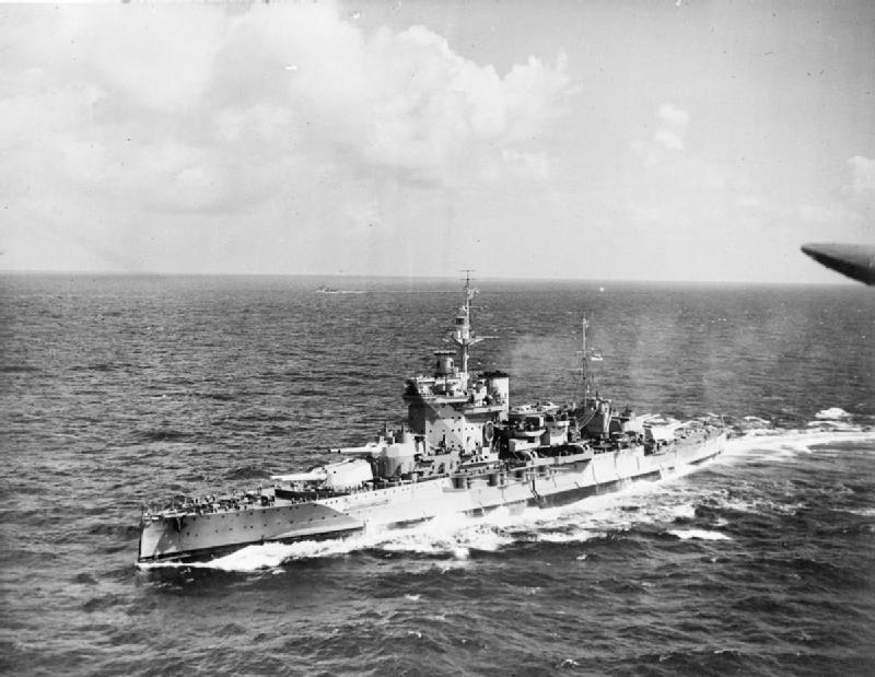 Warspite in the Indian Ocean 1942.